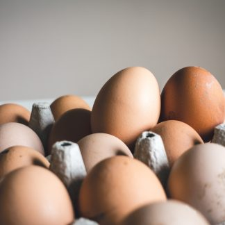 shallow focus photography of brown eggs